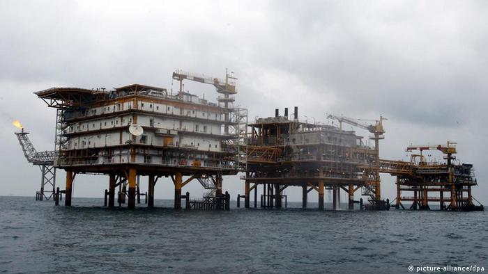 Iranian South pars quarter one (SPQ1) gas platform in the Persian gulf waters