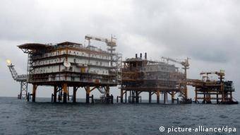 Iranische Gasplattform im Persischen Golf (Foto: EPA)