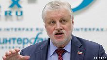 Russland Wahlen Präsidentschaftskandidat Sergei Mironow in Moskau