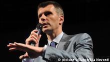Russland Wahlen Präsidentschaftkandidat Michail Prochorow