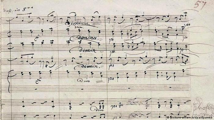 das erste, noch handschriftlich korrigierte Druck-Manuskript von Beethovens Neunter Symphonie