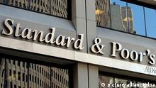 Bürogebäude der amerikanischen Ratingagentur Standard & Poor's Logo