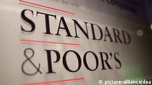 Standard & Poor's Logo (picture-alliance/dpa)