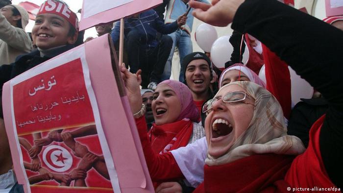 Tunesien begeht Jahrestag der Revolution (picture-alliance/dpa)