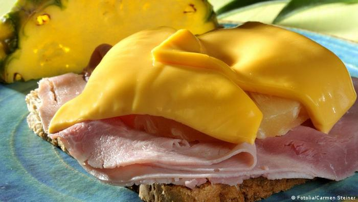 Toast Hawaii, a German dish which has pineapple squished between ham and cheese (Fotolia/Carmen Steiner)