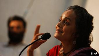 Arundhati Roy, a rights activist and Booker prize-winning novelist