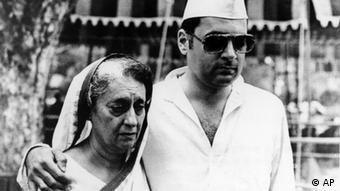 Rajiv Gandhi mit Indira Gandhi