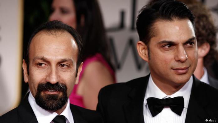 اصغر فرهادی و پیمان معادی در ۶۹مین دورهی جوایز گلدن گلوب