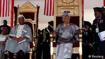 Liberia Ellen Johnson-Sirleaf zweite Amtszeit in Morovia