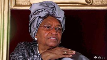 Na slici je liberijska predsjednica Ellen Johnson-Srleaf