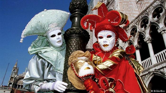 Маски на венецианском карнавале