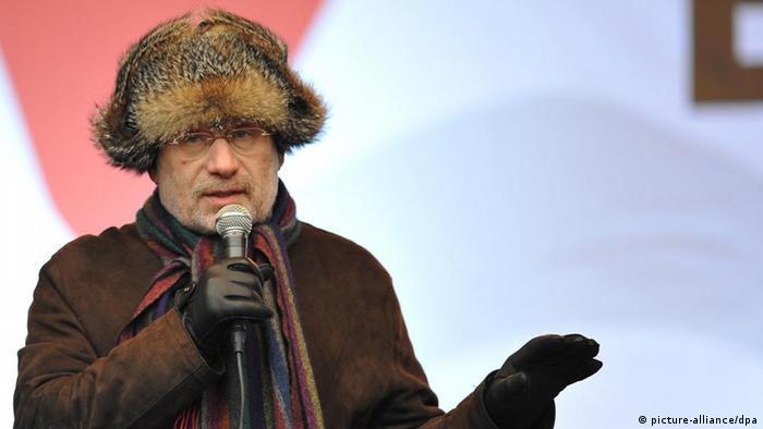 Борис Акунин на митинге оппозиции