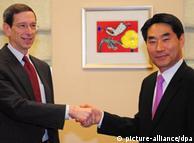 رابرت آینهورن و کیم جی شین، معاون وزارت خارجه کرهجنوبی