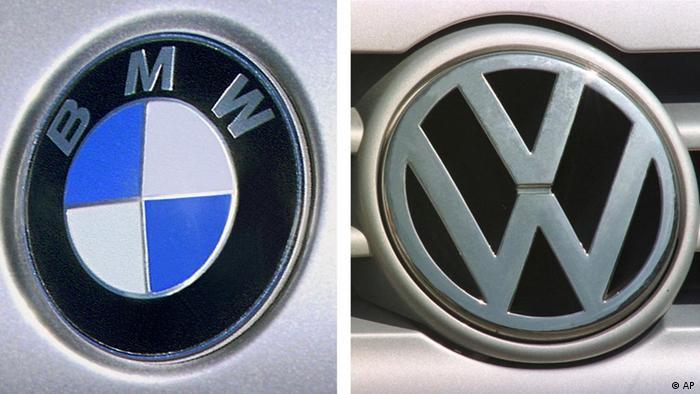 BMW and VW logos