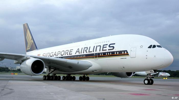 Airbus A380 at the Singapore Changi Airport 2007