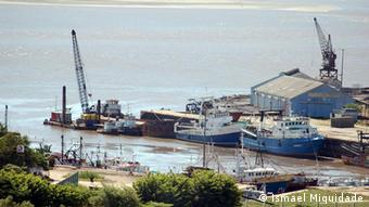 O Porto da Beira um dos mais importante do país para o escoamento dos recursos minerais