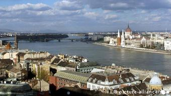 Budapest with Hungarian parliament building