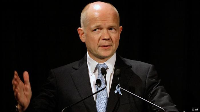 Waziri wa mambo ya nchi za nje wa Uingereza William Hague