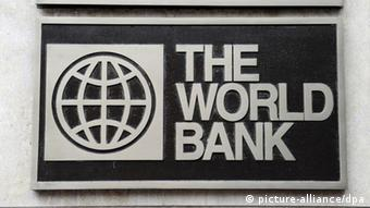 Logo der Weltbank in Washington USA