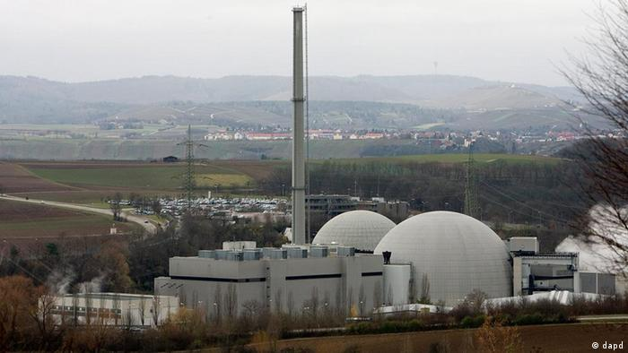 Neckarwestheim nuclear power plant in Germany, before its closure in 2011 (Photo: Michael Latz/dapd)