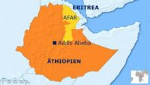 Karte Äthiopien Afar-Region