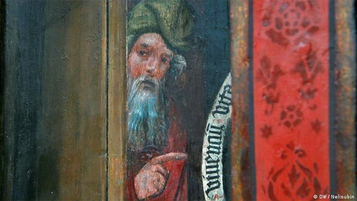Портрет на астрономических часах в храме Николая Чудотворца в Штральзунде