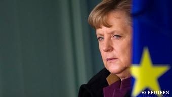 Angela Merkel EU Fahne