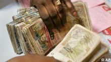 Geldumtausch in Westafrika