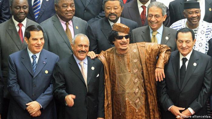 Diktatoren Arabischer Raum Muammar Gaddafi Ben Ali Abdullah Saleh Hosni Mubarak (picture-alliance/dpa)