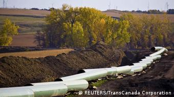 The Keystone Oil Pipeline is pictured under construction in North Dakota in this undated photograph released on January 18, 2012. The Obama administration was poised on Wednesday to reject the Keystone crude oil pipeline, according to sources, a decision that would be welcomed by environmental groups but inflame the domestic energy industry. REUTERS/TransCanada Corporation/Handout (UNITED STATES - Tags: ENERGY POLITICS ENVIRONMENT) FOR EDITORIAL USE ONLY. NOT FOR SALE FOR MARKETING OR ADVERTISING CAMPAIGNS. THIS IMAGE HAS BEEN SUPPLIED BY A THIRD PARTY. IT IS DISTRIBUTED, EXACTLY AS RECEIVED BY REUTERS, AS A SERVICE TO CLIENTS. NO THIRD PARTY SALES. NOT FOR USE BY REUTERS THIRD PARTY DISTRIBUTORS