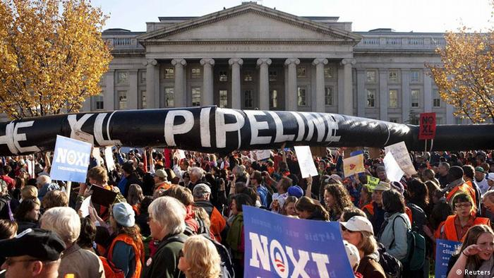 USA Keystone XL Pipeline Öl Kanada Protest Demonstration (Reuters)