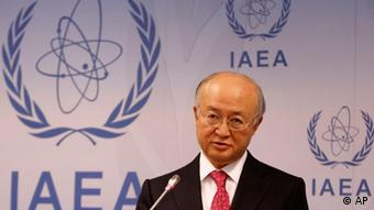 International Atomic Energy Agency (IAEA) chief Yukiya Amano of Japan speaks during a news conference after a meeting of the IAEA's board of governors at the International Center, in Vienna, Austria, Thursday, Nov. 17, 2011. (Foto:Ronald Zak/AP/dapd)