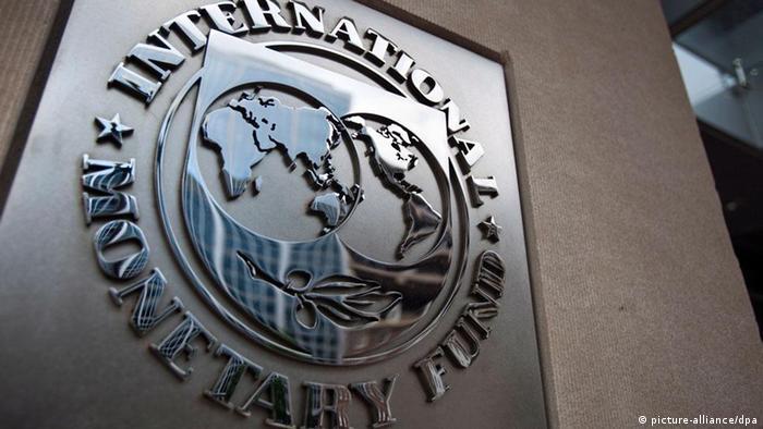 Das Logo des Internationale Währungsfonds an dessen Hauptsitz in Washington (Foto: dpa)