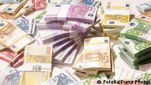 EU Euro gestapelte Geldscheine Haufen Geld