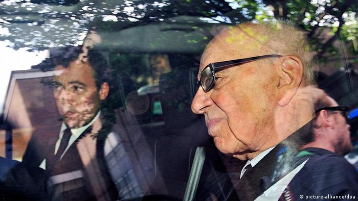 Rupert Murdoch departs News International Headquarters, July 2011