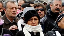 Türkei Medien Demonstration in Istanbul Jahrestag Ermorderung Hrant Dink Witwe