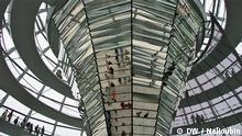 Berlin, Reichstag, Kuppel. Deutschland entdecken, Relaunch. Copyright: DW / Maksim Nelioubin. DEMASTERNEU060