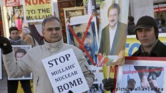 Sicherheitskonferenz - Iranische Demonstranten