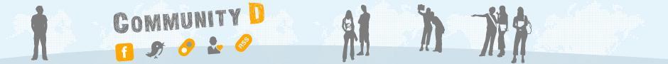 DW Sprachkurse CommunityD Brandingbanner Deutsche Welle, Sprachkurse/Bildungsprogramme, (c) DW Auslandsmarketing 2012, Benutzung nur für Deutschkurse!