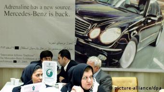 Werbung von Daimler-Benz in Teheran (Archivbild: dpa)