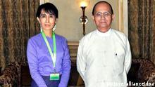 آنگ سان سوچی و رئیس جمهور تین سین