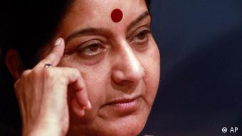 خانم سوشما سواراج وزیر خارجه هند