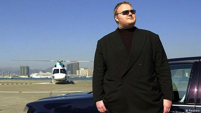 German internet millionaire Kim Schmitz is seen in Hong Kong in this 1999 handout file photo. Internet content hosting website Megaupload.com founders Schmitz, also known as Kim Dotcom and Kim Tim Jim Vestor, and Mathias Ortmann were arrested with two other company executives in Auckland, New Zealand, by local authorities on January 19, 2012 and will face extradition hearings, the U.S. Justice Department said. They were charged by U.S. authorities for a massive copyright infringement scheme, the latest skirmish in a battle against piracy of movies and music. REUTERS/Handout/Files (CHINA - Tags: CRIME LAW SCIENCE TECHNOLOGY POLITICS)