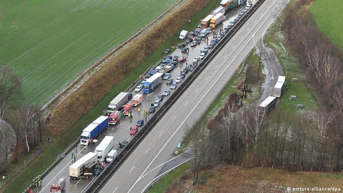 Massenunfall auf der Autobahn 1 bei Cloppenburg