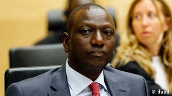 William Ruto one of four prominent Kenyans facing charges at the International Criminal Court in The Hague Photo:Bas Czerwinski/AP/dapd)