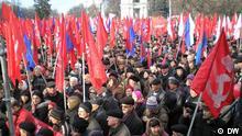 In der Republik Moldova startet die Opposition eine Reihe von Protestaktionen gegen die prowestliche Regierung. Sie fordert die Auflösung des Parlaments und Neuwahlen. Eine Demonstration der kommunistischen Opposition in der moldawischen Hauptstadt Kischinau.