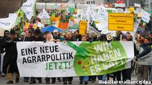 Berlin Demonstration gegen Agrarindustrie