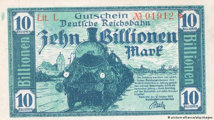 Weimar Republic banknote (picture-alliance/akg-images)
