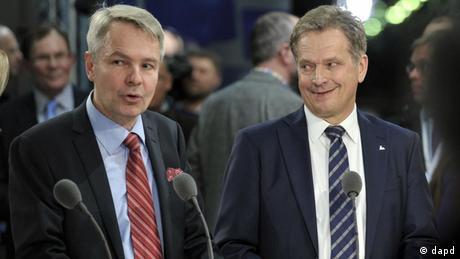 Finnland Präsidentschaftskandidaten Pekka Haavisto und Sauli Niinisto (dapd)