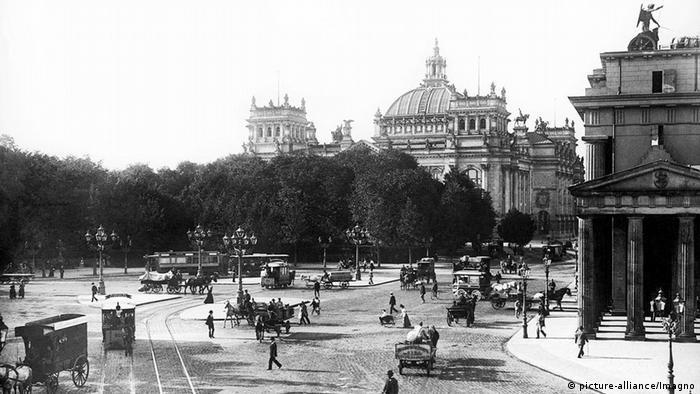 Бранденбургские ворота и Рейхстаг, 1899 год